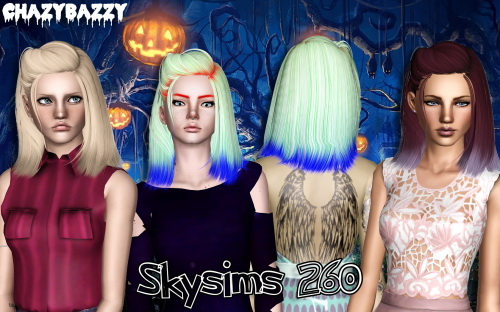 Skysims 260 hairstyle retextured by Chazy Bazzy for Sims 3