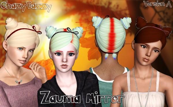 Zauma Mirror hairstyle retextured by Chazy Bazzy for Sims 3