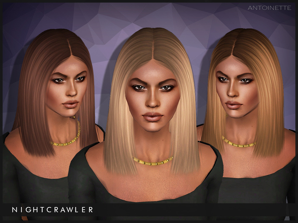 Antoinette hairstyle for TS3 by Nightcrawler by The Sims Resource for Sims 3