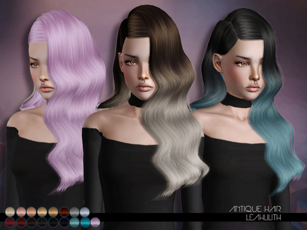 Antique Hairstyle for TS3 by LeahLillith by The Sims Resource for Sims 3