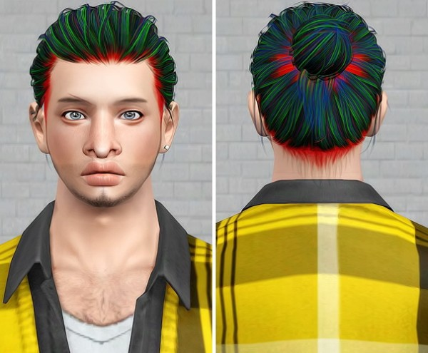 Anto`s Blackout hair retextured by Beaverhausen for Sims 3