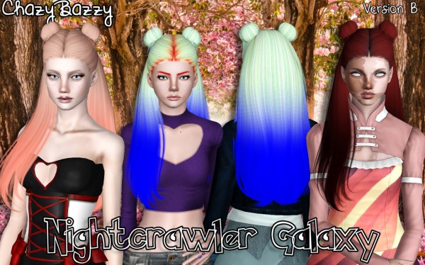 Nightcrawler`s Galaxy hairstyle retextured by Chazy Bazzy for Sims 3