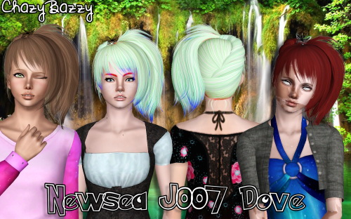 Newsea`s J007 Dove hair retextured by Chazy Bazzy for Sims 3