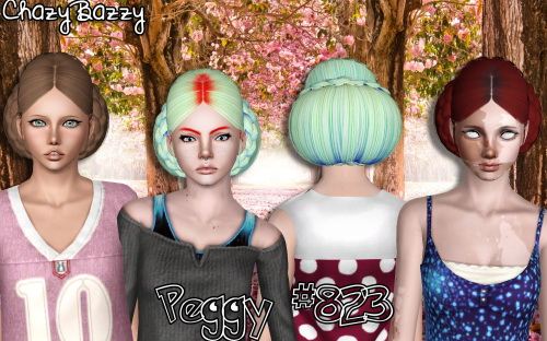 Peggy 823 hairstyle retextured by Chazy Bazzy for Sims 3