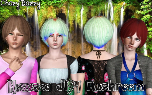 Newsea`s J194 Mushroom hairstyle retextured by Chazy Bazzy for Sims 3