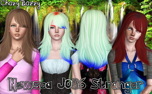 Newsea`s J086 Stranger hairstyle retextured by Chazy Bazzy for Sims 3