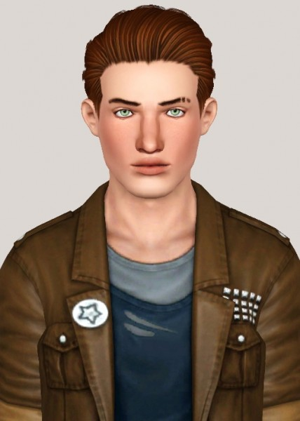 Ade Darma Marko hairstyle retextured by Someone take photoshop away from me for Sims 3