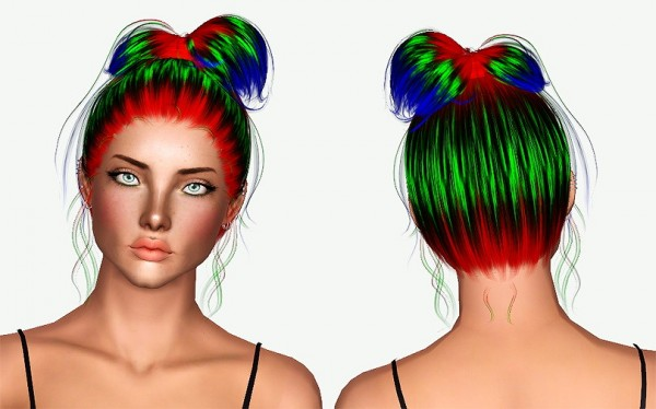 Sintiklia`s Zoella hairstyle retextured by Chantel Sims for Sims 3
