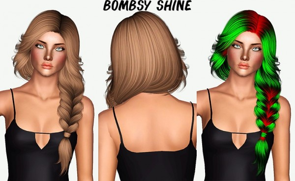 Nightcrawler`s Pearl hairstyle retextured by Chantel Sims for Sims 3