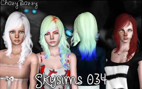 Skysims 034 hair retextured by Chazy Bazzy for Sims 3