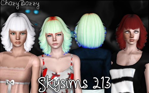Skysims 213 hair retextured by Chazy Bazzy for Sims 3