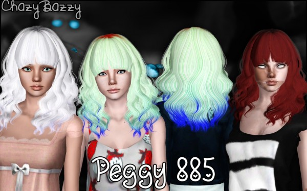 Peggy`s 885 hair retextured by Chazy Bazzy for Sims 3