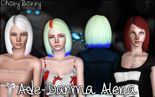 Ade Darma Alena hairstyle retextured by Chazy Bazzy for Sims 3