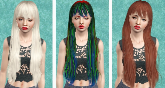 Newsea's Janice hairstyle retextured by Beaverhausen for Sims 3