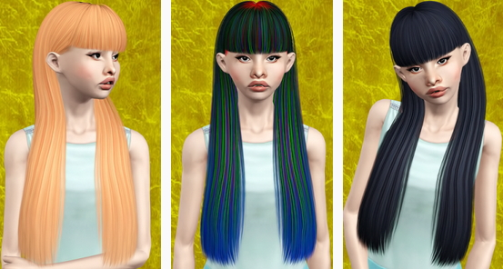 Nightcrawler Laurie`s hair retextured by Beaverhausen for Sims 3