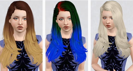 Newsea`s Gisele hairstyle retextured by Beaverhausen for Sims 3