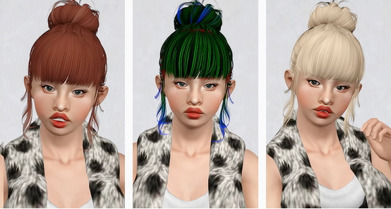 Butterfly`s 153 hairstyle retextured by Beaverhausen for Sims 3