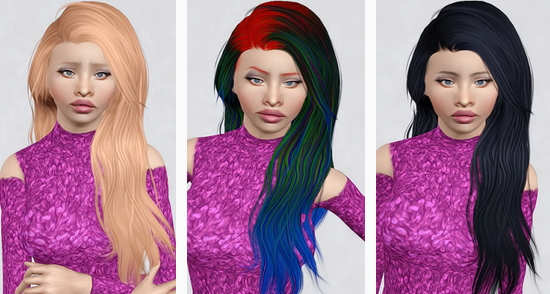 Stealthic's Heaventide Pushed Back hairstyle retextured by Beaverhausen for Sims 3