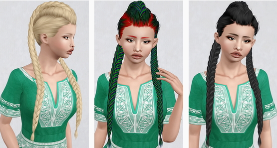 LeahLillith`s Creature hairstyle retextured by Beaverhausen for Sims 3