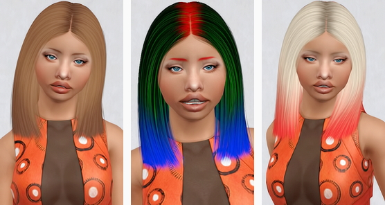 Nightcrawler`s Antoinette hairstyle retextured by Beaverhausen for Sims 3