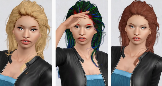 Newsea`s Jackdawson hairstyle retextured by Beaverhausen for Sims 3