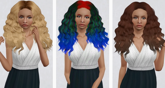 Sintiklia`s Diva hair retextured by Beaverhausen for Sims 3