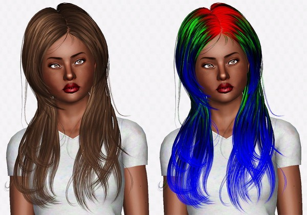Newsea Roam hairstyle retextured by Chantel Sims for Sims 3