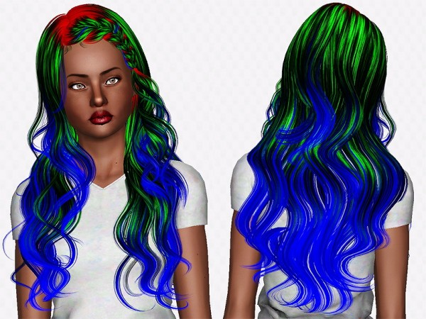Newsea`s J063 Lullaby hairstyle retextured by Chantel Sims for Sims 3