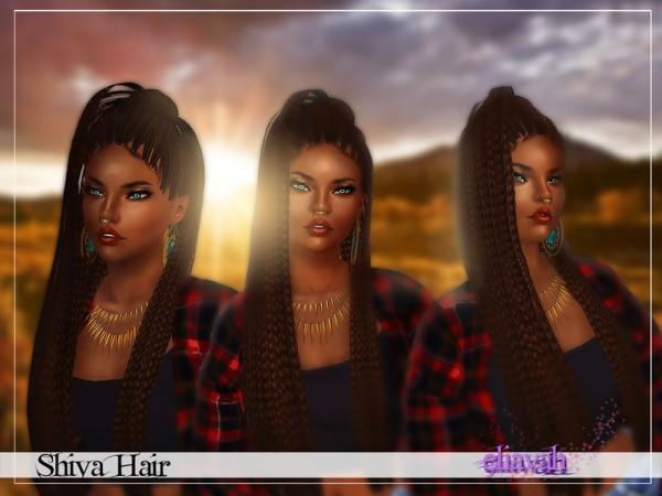 Shiva Hair by Eliavah by    select a Website    for Sims 3
