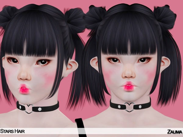 Yume   Stars hair by The Sims Resource for Sims 3
