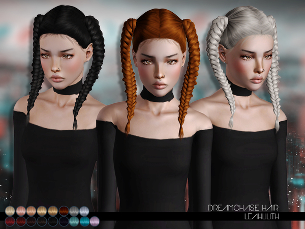 DreamChase Hair for TS 3 by Leahlillith by The Sims Resource for Sims 3