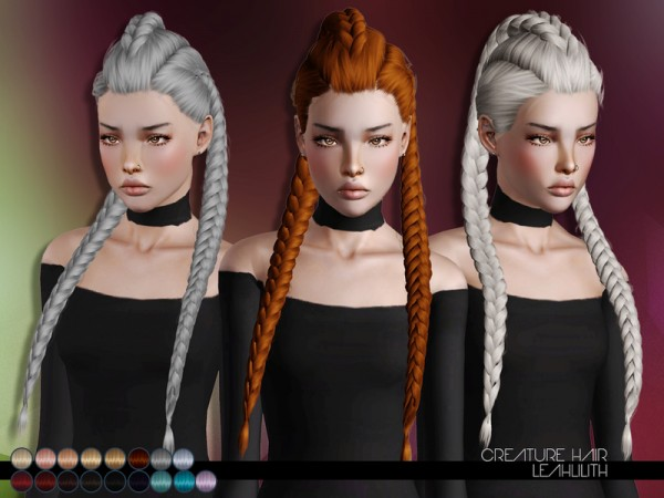 Creature Hair for TS3 by LeahLillith by The Sims Resource for Sims 3