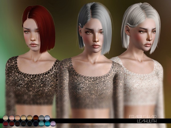 Fragile Hair for TS3 by LeahLillith by The Sims Resource for Sims 3