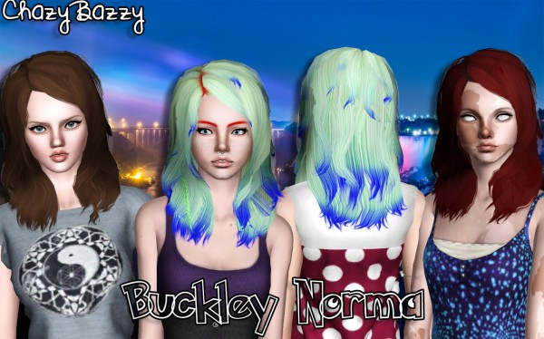 Buckley Hair Dump part 3 by Chazy Bazzy for Sims 3