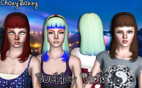 Buckley Hair Dump 5 by Chazy Bazzy for Sims 3